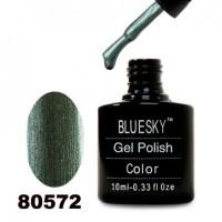 Гель-лак BlueSky, болотно-зеленый, перламутровый с микроблеском, 80572, 10 мл
