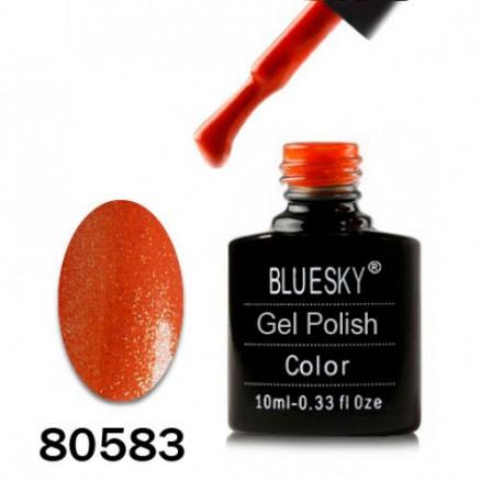 Гель-лак BlueSky, темно-рыжий перламутр с микроблеском, 80583, 10 мл