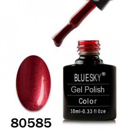 Гель-лак BlueSky, спелая вишня с микроблеском, 80585, 10 мл