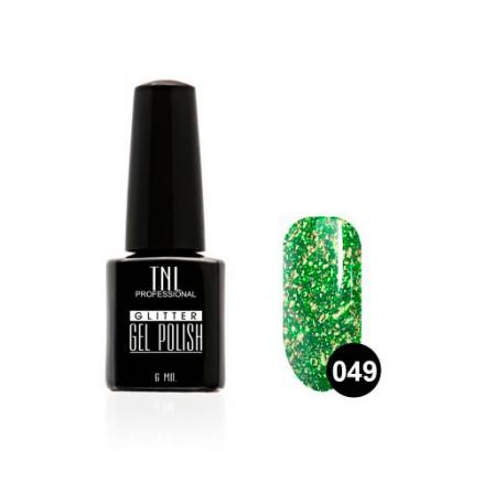 """Гель-лак TNL, серия """"Glitter"""", №49 Зеленый чай, 6 мл"""