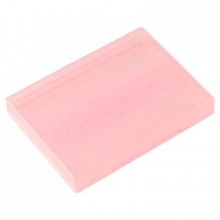 Бокс для фрез, 100х70х10 мм, прозрачно-розовый