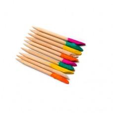 Палочки деревянные, с абразивным наконечником, 6,5 см, 10 шт/уп