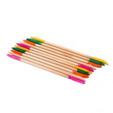 Палочки деревянные, с абразивным наконечником, 14 см, 10 шт/уп