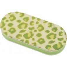 """Брусок полировочный Dewal Beauty, серия """"Дикая природа"""", зеленый леопард, 240/3000 гр, 4 x 1,2 x 9"""