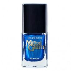 Лак для ногтей Relouis Metal Glam, №01 Синий, 11,7 гр