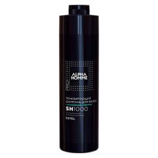 Тонизирующий шампунь Estel, с охлаждающим эффектом, серия Alpha Homme, 1000 мл