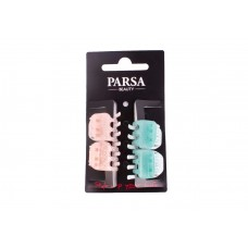 Заколка-краб для волос Parsa Beauty, серии Gentle Women, 4 шт/уп.